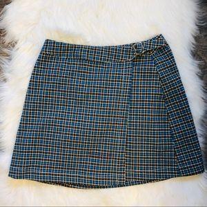 John Galt 90s plaid mini skirt with buckle